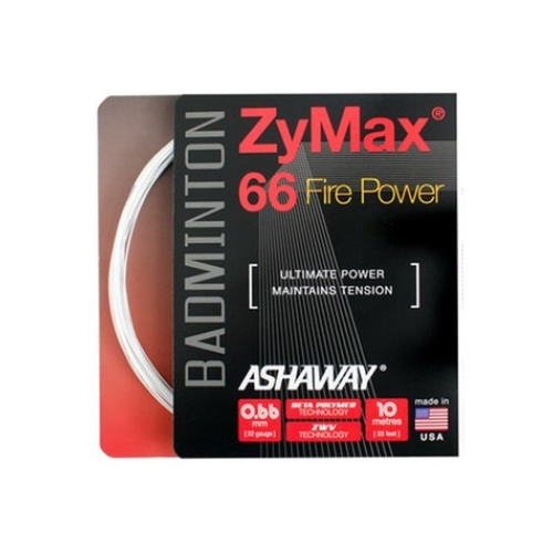 ASHAWAY ZYMAX 66 FIRE POWER BADMINTON STRING IVORY WHITE