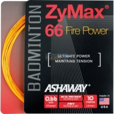 ASHAWAY ZYMAX 66 FIRE POWER BADMINTON STRING ORANGE